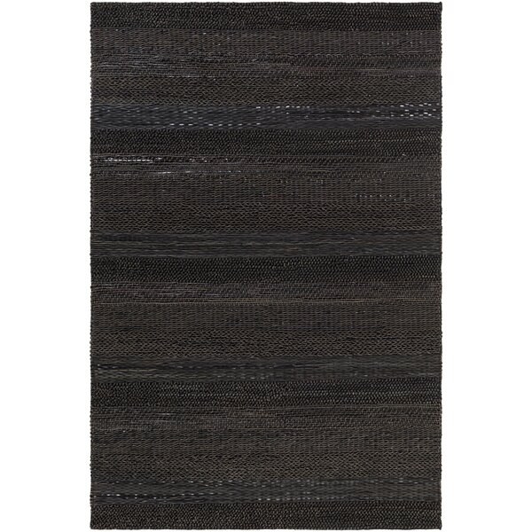 Bennett Hand-Woven Brown/Black Area Rug by Corrigan Studio