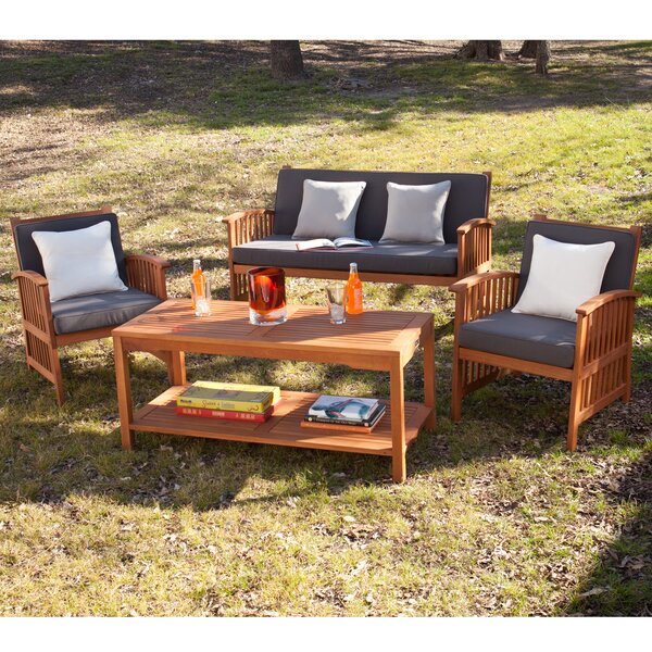 Grayville 4 Piece Sofa Set by Darby Home Co