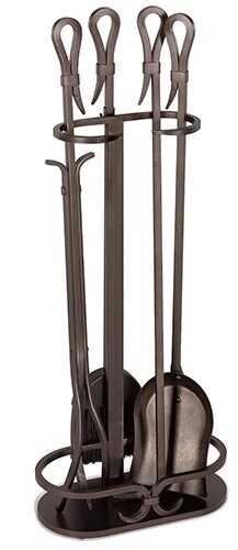5 Piece Iron Fireplace Tool Set By Pilgrim Hearth