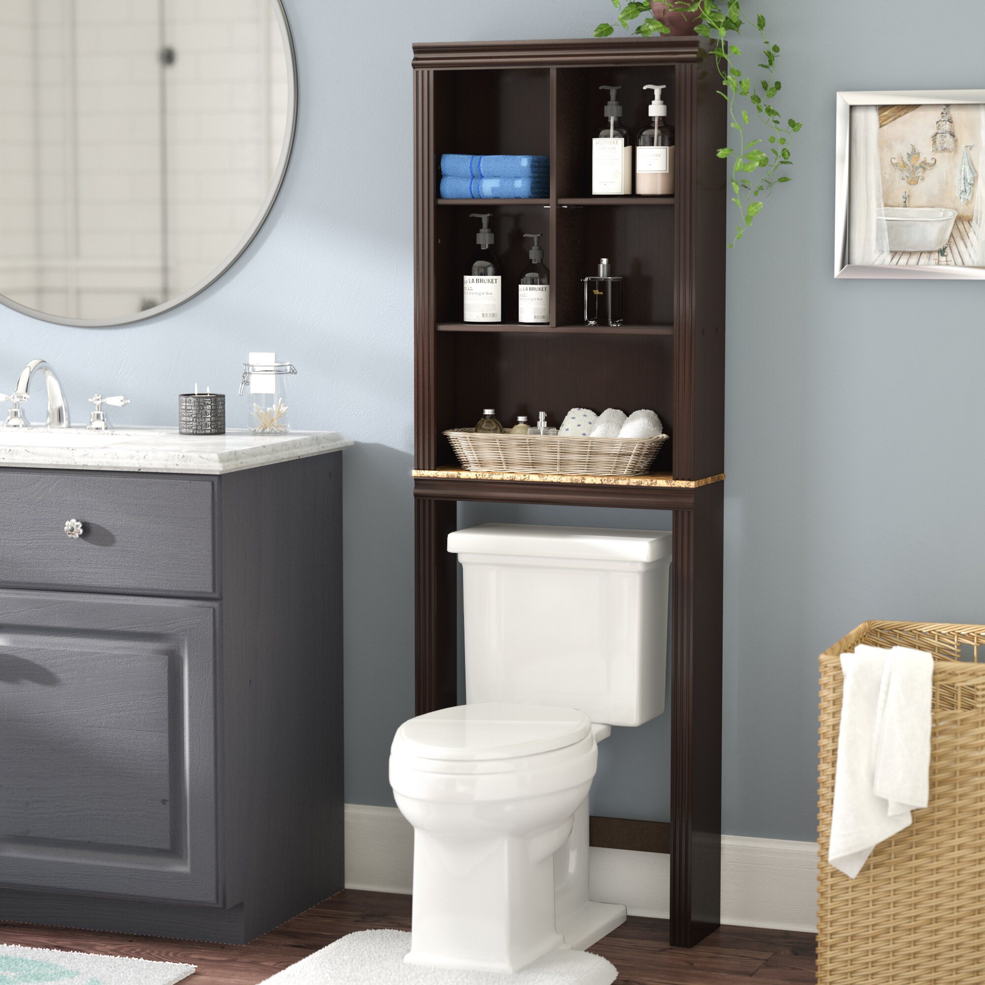 Andover Mills Milledgeville 23 3 W X 68 58 H Over The Toilet Storage Reviews Wayfair