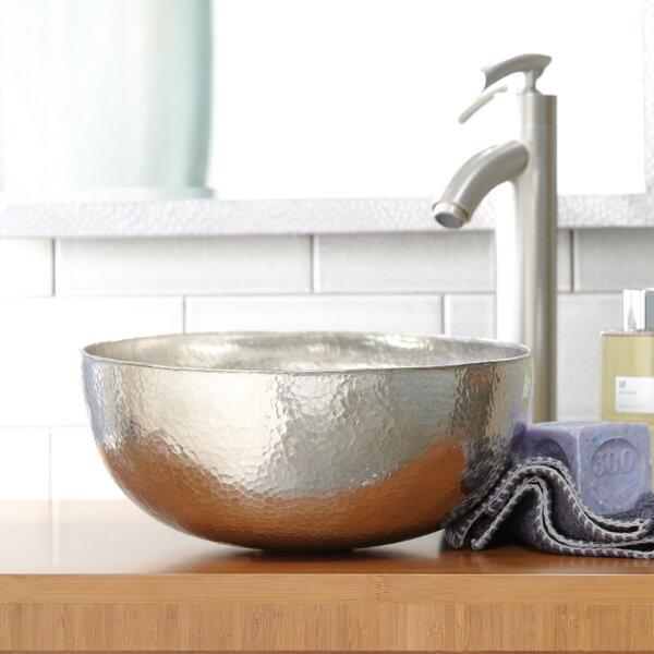 Maestro Metal Circular Vessel Bathroom Sink