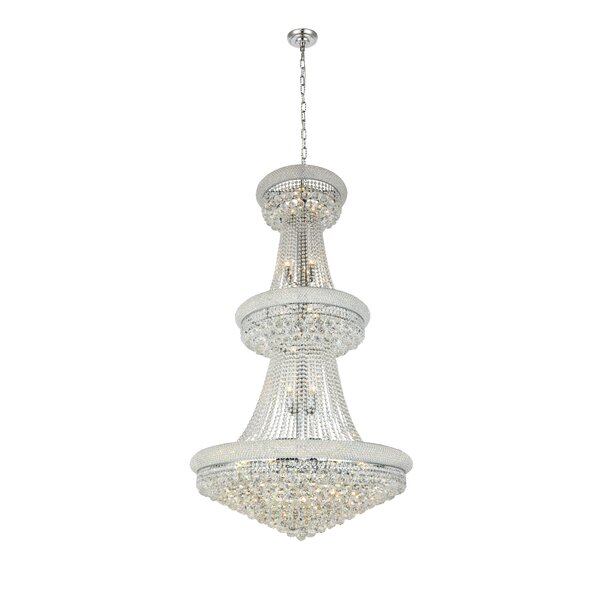 Jessenia 32 - Light Unique / Statement Empire Chandelier With Crystal By Willa Arlo Interiors