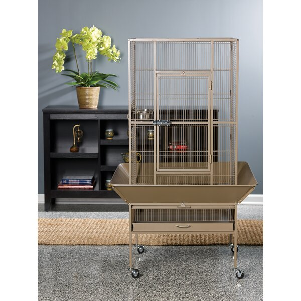 Park Plaza Large Bird Cage with Casters by Prevue