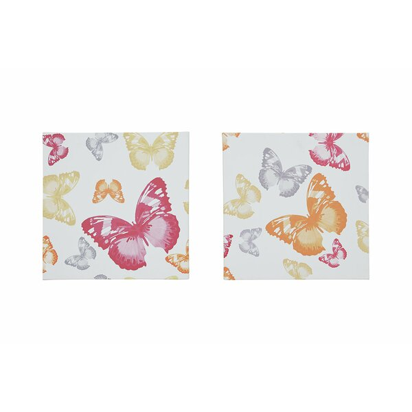 2 Piece Graphic Print Set on Wrapped Canvas (Set of 2) by Winston Porter