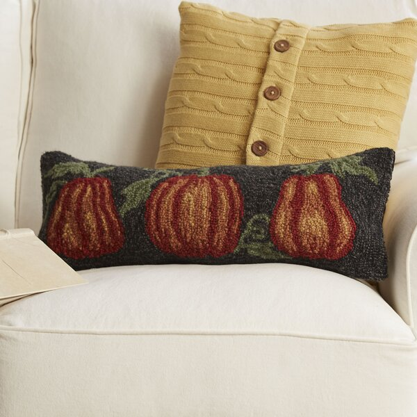 Pumpkin Trio Hooked Pillow by Birch Lane™