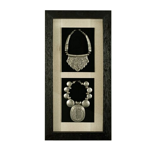Jewelry Shadow Box Wall Décor With Wood Frame