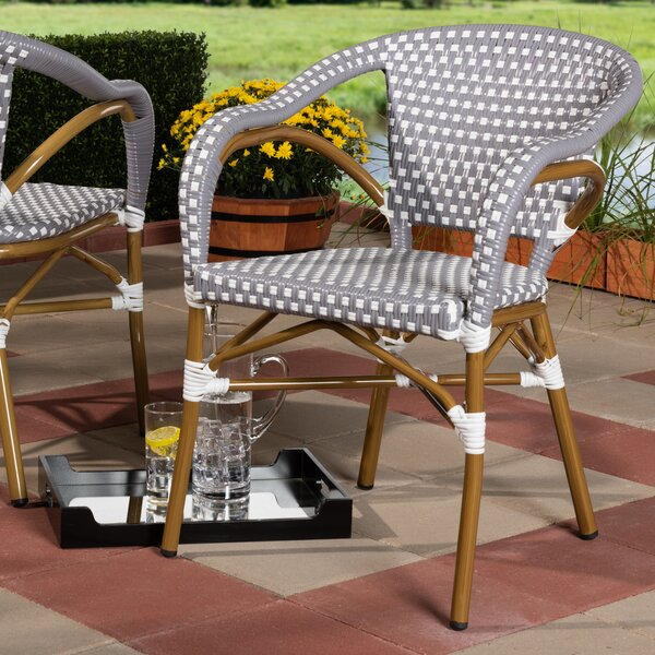 Kira Classic French Stacking Patio Dining Chair (Set of 2) by Bay Isle Home