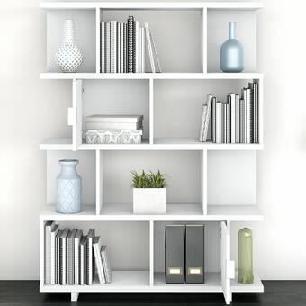 Latitude Run Dauntay 73 6 H X 31 5 W Standard Bookcase Reviews Wayfair