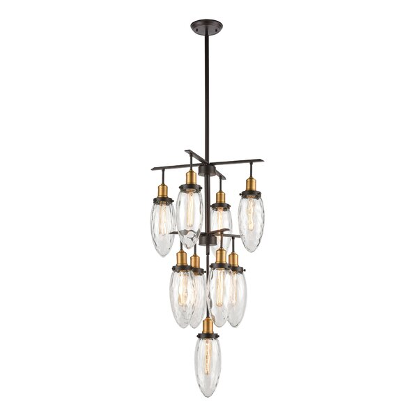 Sklar 9 - Light Unique Geometric Chandelier by Mercer41 Mercer41