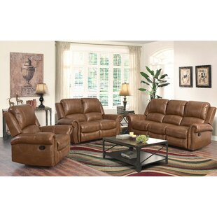 Bitter Root Reclining 3 Piece Leather Living Room Darby Home Co Purchase ...