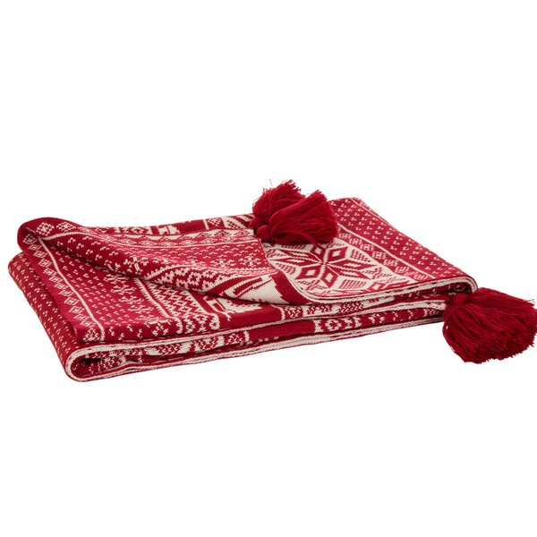 Allred Knitted Tassel Throw by The Holiday Aisle