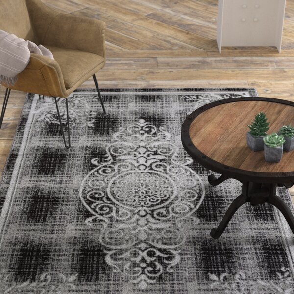 Bezout Geometric Gray Area Rug by Williston Forge