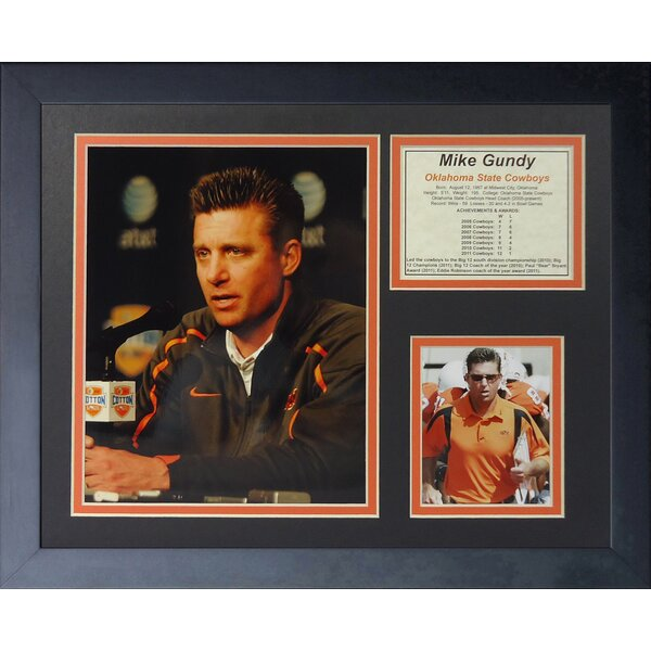 Mike Gundy Oklahoma State OSU Coach Framed Memorabilia by Legends Never Die