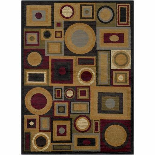 Doran Dark Red/Tan Area Rug by Ebern Designs