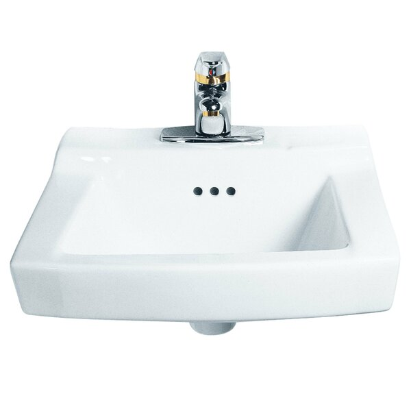 Comrade Ceramic 20 Wall Mount Bathroom Sink with Overflow by American Standard