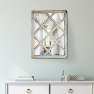 Look for Armina Rustic Wood Window Pane Vanity Wall Mirror By Highland Dunes