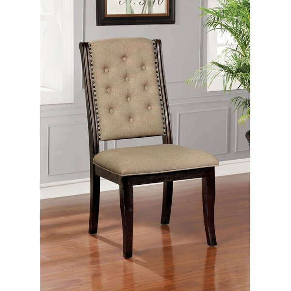 Jules Tufted Upholstered Dining Chair (Set of 2) by Alcott Hill