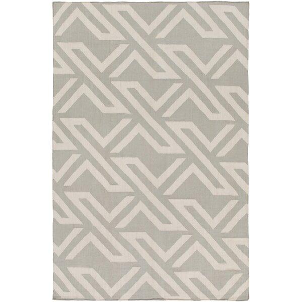 Breece Light Gray/Ivory Area Rug by Mercury Row