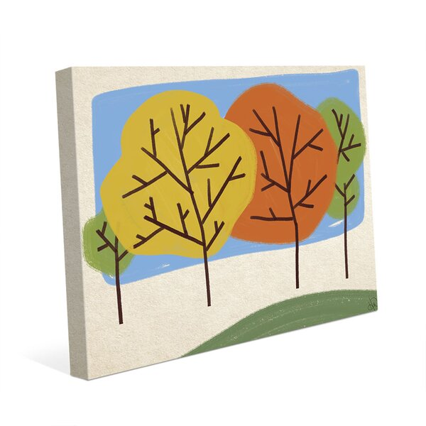 Autumn Trees Graphic Art on Wrapped Canvas by Click Wall Art