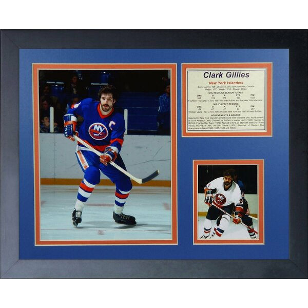 Clark Gillies- New York Islanders Framed Memorabilia by Legends Never Die