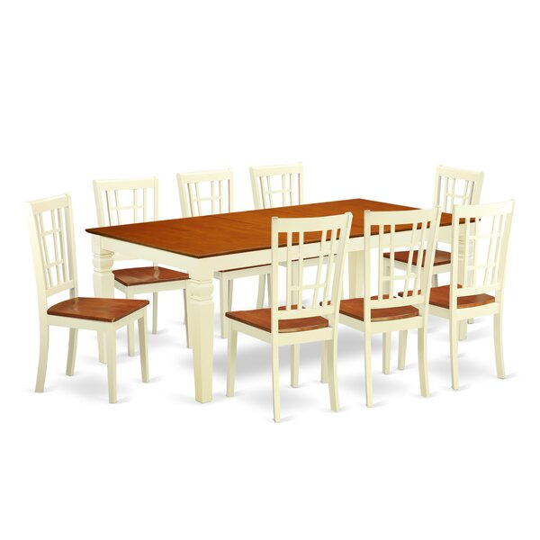 Beesley 9 Piece Buttermilk/Cherry Wood Dining Set by Darby Home Co