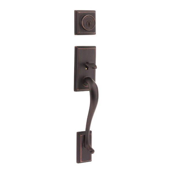 Hawthorne Double Cylinder Entrance Handleset, Exterior Handle Only by Kwikset