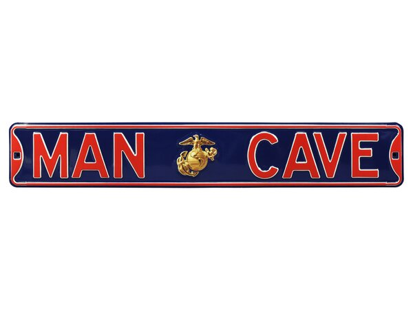 Man Cave Enlisted Marine Wall Décor by Authentic Street Signs