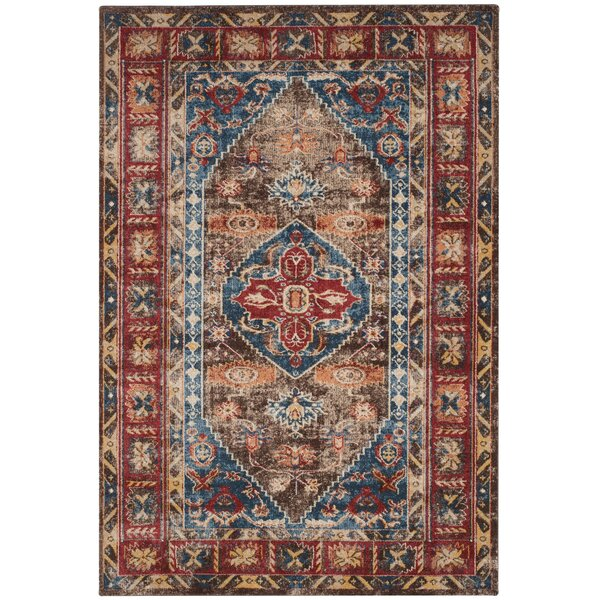 Isanotski Brown/Royal Area Rug by Loon Peak