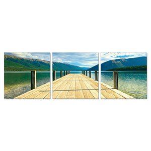 'Mountain View' Photographic Print Multi-Piece Image on Wrapped Canvas by Latitude Run