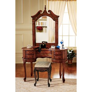 Queen Anne Vanity with Mirror by Design Toscano