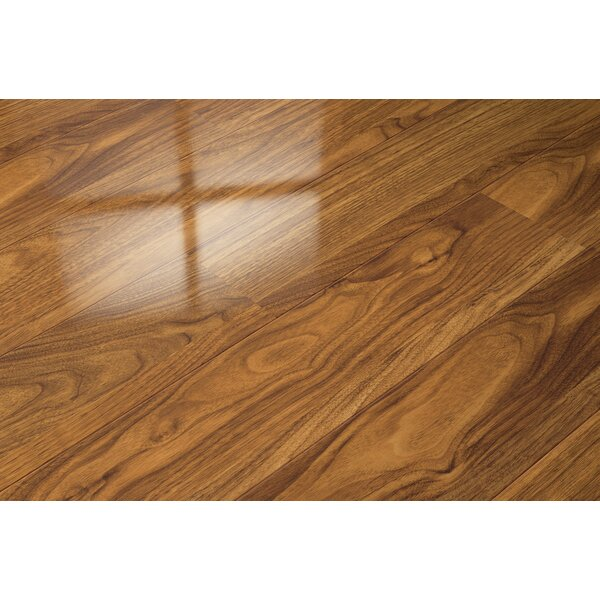 7 x 51 x 9mm Walnut Laminate Flooring in Tan by ELESGO Floor USA