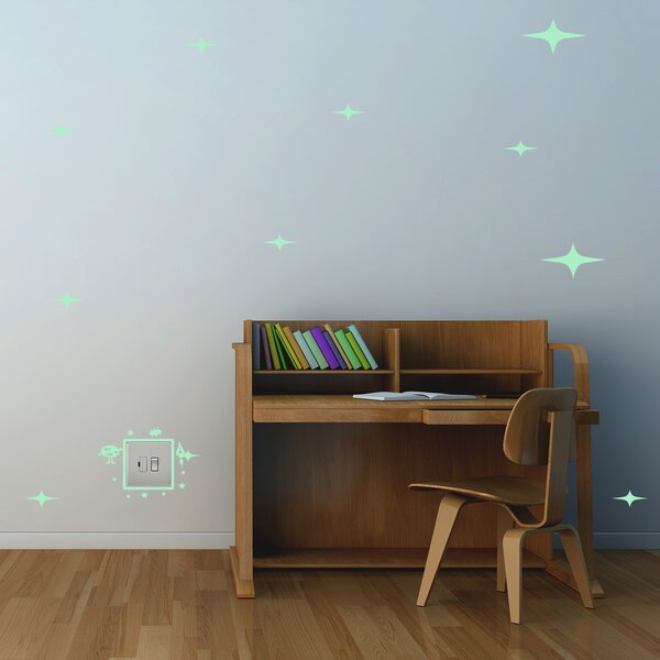 Grand Canyon Alien and Stars Glowing Wall Decal by Zoomie Kids