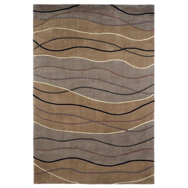 Lillian Hand-Tufted Wool Brown Area Rug by Orren Ellis