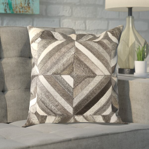 Shaula Leather Pillow Cover by Brayden Studio