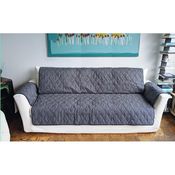 Geometric Rough Gem Box Cushion Loveseat Slipcover By Red Barrel Studio