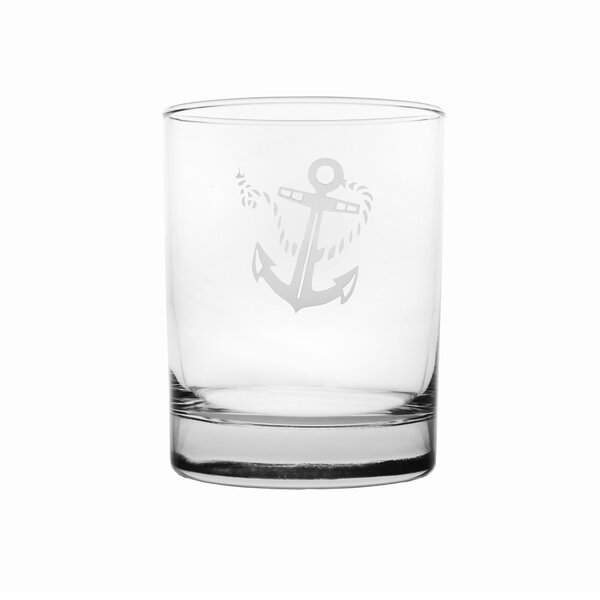 Rope and Anchor 14 oz. Double Old Fashioned (Set of 4) by Rolf Glass