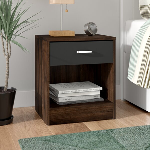 Overstreet 1 Drawer Nightstand by Trule Teen
