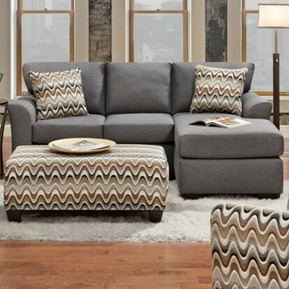 Fine Quality Missenden Reversible Sectional by Bungalow Rose by Bungalow Rose