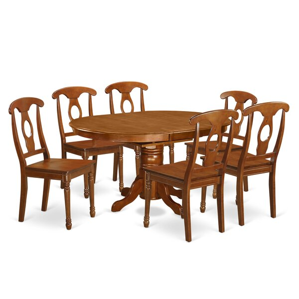 Spurling 7 Piece Solid Wood Dining Set by August Grove