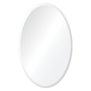 Darby Home Co Unframed Oval Wall Mirror
