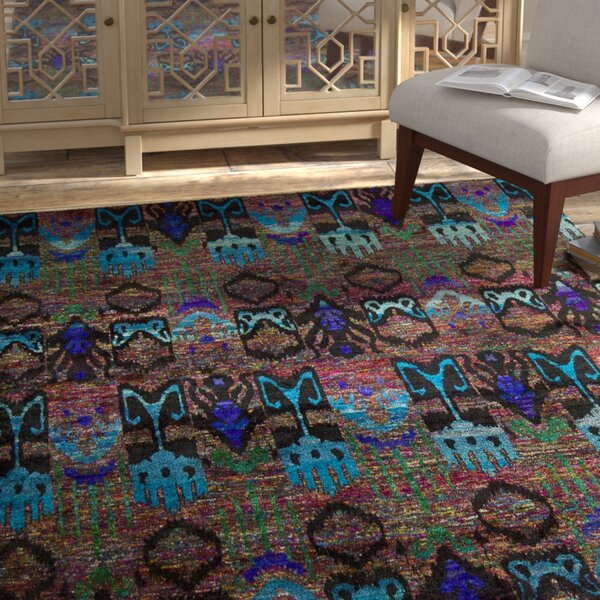 Pinos Hand knotted Area Rug by Bloomsbury Market