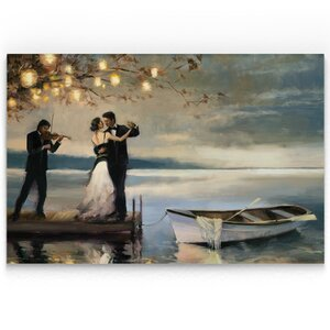 'Twilight Romance' Oil Painting Print on Wrapped Canvas by Alcott Hill
