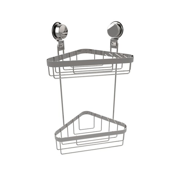 Wall Mounted 2 Tier Corner Shower Caddy by Rebrilliant