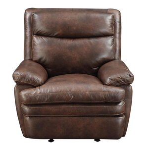 Clarkston Leather Manual Recliner by At Home Designs