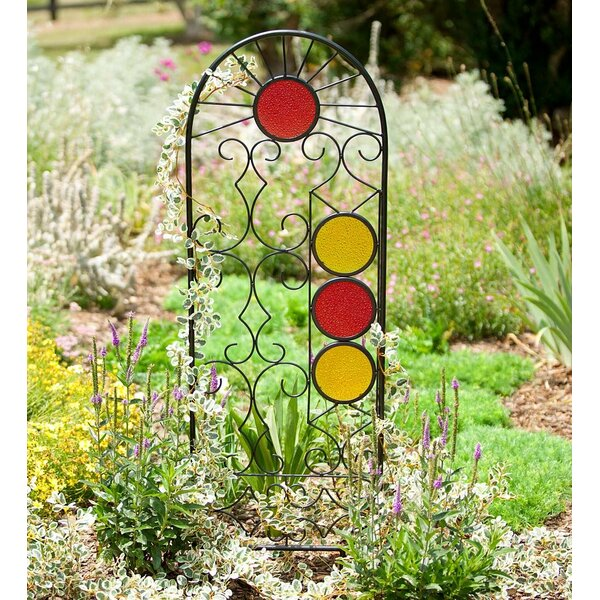 Rising Sun Glass and Metal Trellis by Wind & Weather