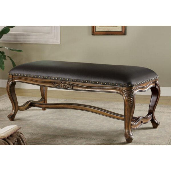 Lukasik Wood Bench by Astoria Grand