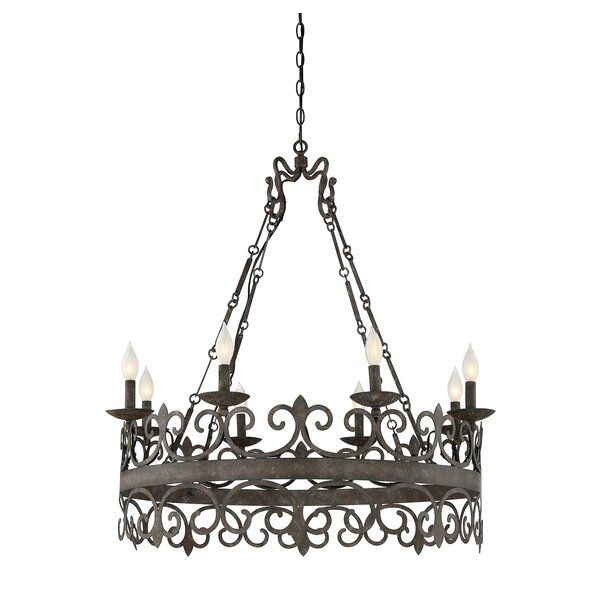Beakervale 8-Light Candle Style Wagon Wheel Chandelier by Astoria Grand Astoria Grand
