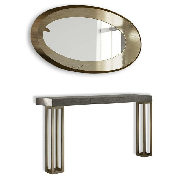 Saybrook Solid Wood Console Table And Mirror Set By Brayden Studio