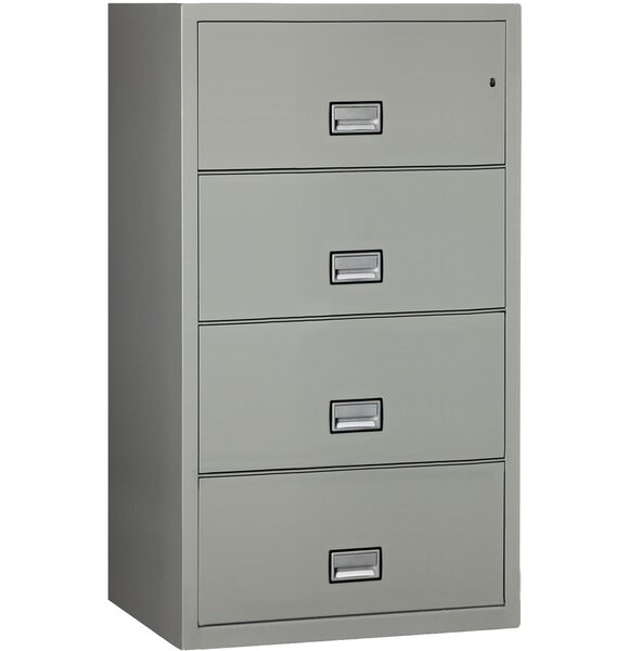 4-Drawer Lateral Filing Cabinet by Phoenix Safe International