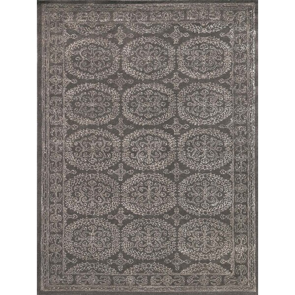 Zada Hand-Tufted Charcoal Area Rug by Ophelia & Co.